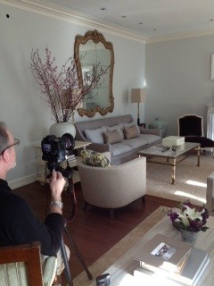 Tribune photo shoot at Tina's apartment